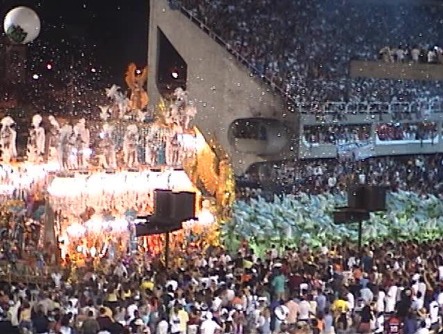 Carnival Show Rio de Janeiro (Brazil), several fantasy floats (1) - no sound, DV 4:3, Sony TRV 130