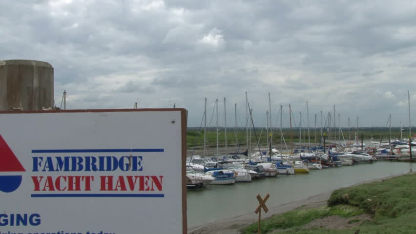 ESSEX, UK - OCTOBER 2011: Fambridge Yacht Haven on the River Crouch in Esse