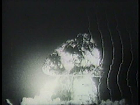 "1980s - Campaign commercial lambasts Barry Goldwater for calling the nuclear bomb merely another weapon""."""