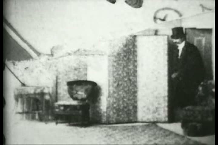 1900s - A comic scene: The magician