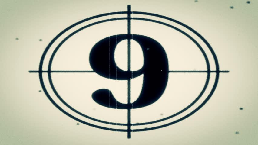 HD - Motion 897: Retro film leader countdown.