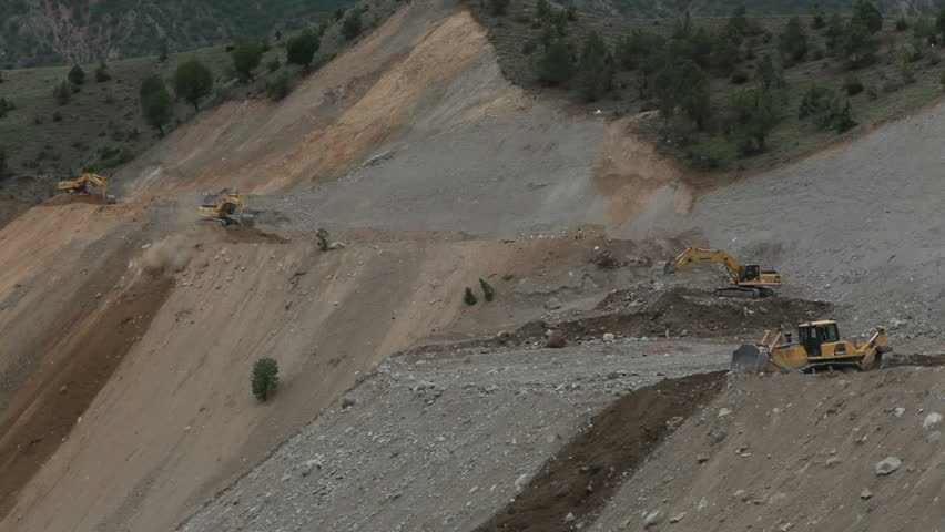 Building road for barrage- Road Construction