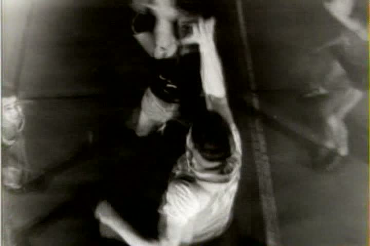 1940s - Men play basketball in a gym in 1941. | Shutterstock HD Video #4075048