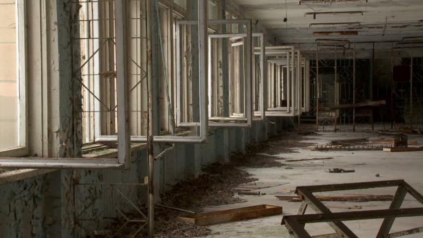 inside an abandoned school