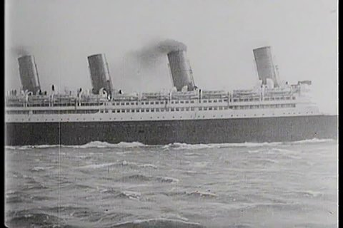 1900s - Steam ships cross the Atlantic in the early 1900s.