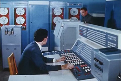 1960s - A Russian computer center in the 1960s.