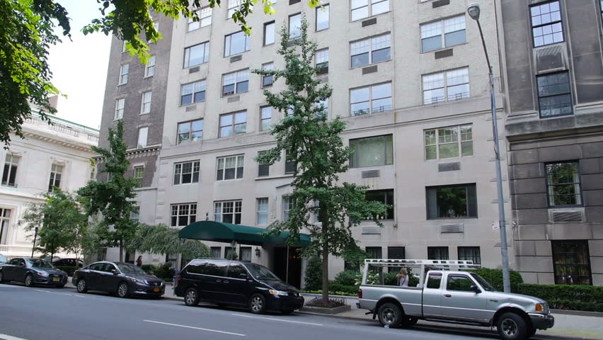 A typical apartment building in New York City near Central Park.