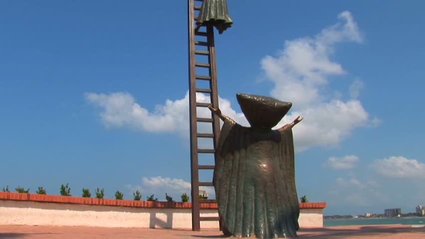 One of the iconic and signature statues along the water in Puerto Vallarta, Mexico