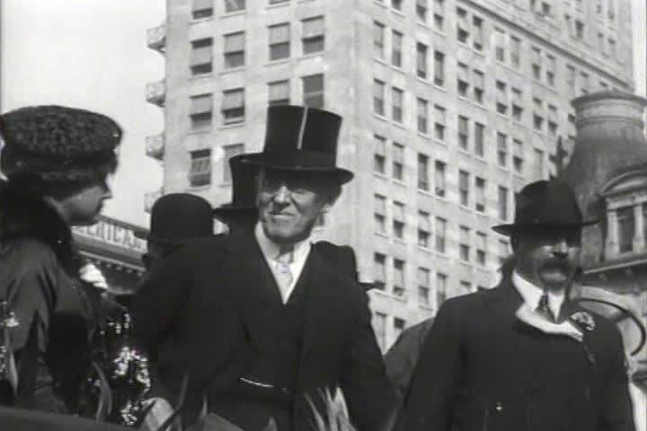 1910s - President Woodrow Wilson attends a campaign rally in Indianapolis in 1919.