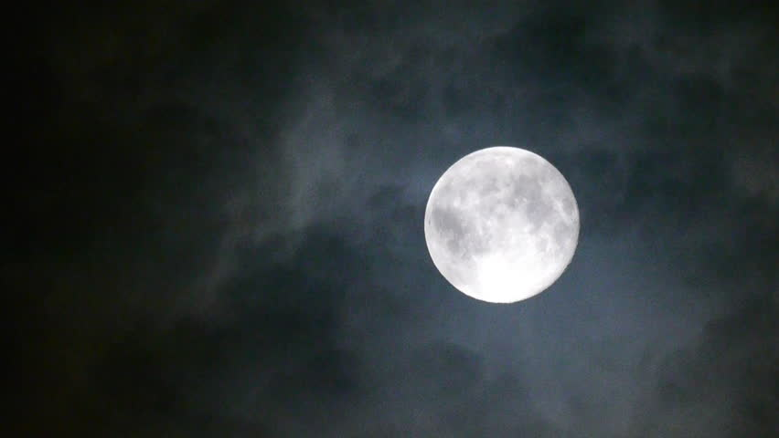 Full moon at night with cloud real no CG | Shutterstock HD Video #4133326