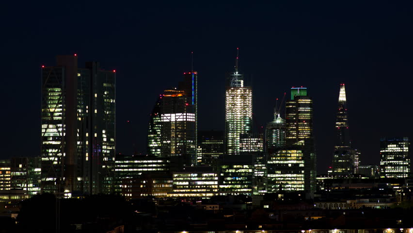 Timelapse of the london skyline at night | Shutterstock HD Video #4139299