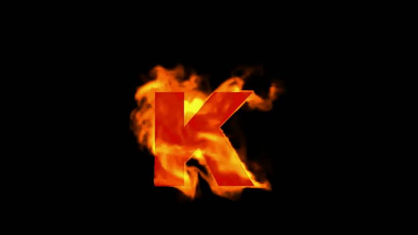 Letter k stock footage video shutterstock fire letter k hd 0016 thecheapjerseys Choice Image