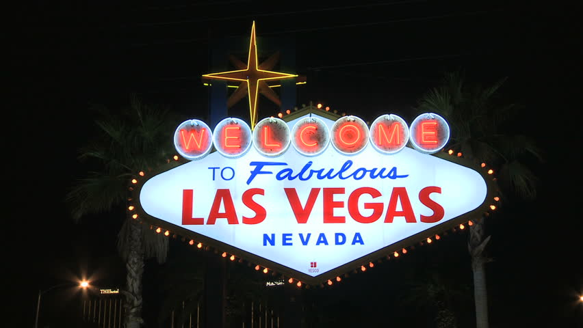 Welcome to Las Vegas Neon Sign   | Shutterstock HD Video #4154569