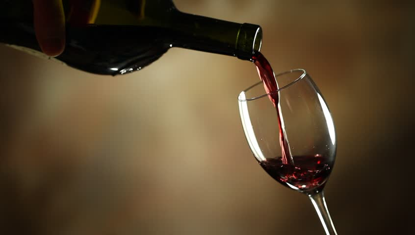 Pouring Red Wine Into Glass Stock Footage Video (100% ...