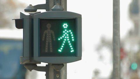 Pedestrians signal. Find similar clips in our portfolio.