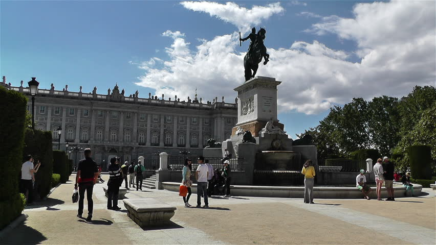 MADRID SPAIN - MAY 25 : Plaza De Oriente in 2013