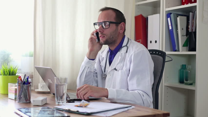 Doctor telling bad news to patient over the phone