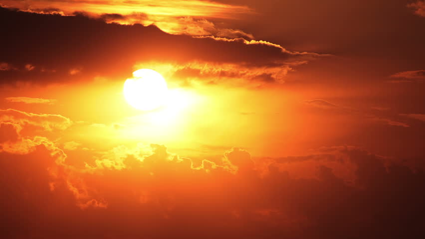 Clouds and sun. Sunset painted the sky. Timelapse   Shutterstock HD Video #4202299