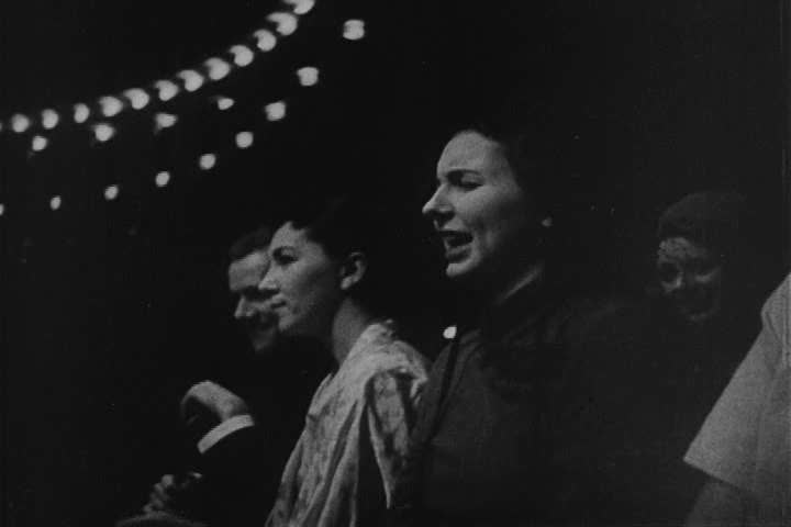 1950s - A narrator discusses the history of American dance and music during the 1950s with a focus on the post-World War 2 world