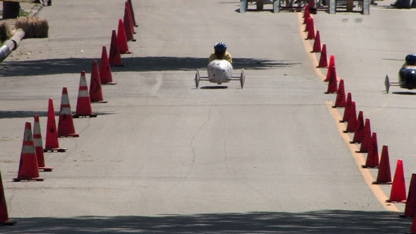 The running of the Soap Box Derby in Ambridge, Pennsylvania.