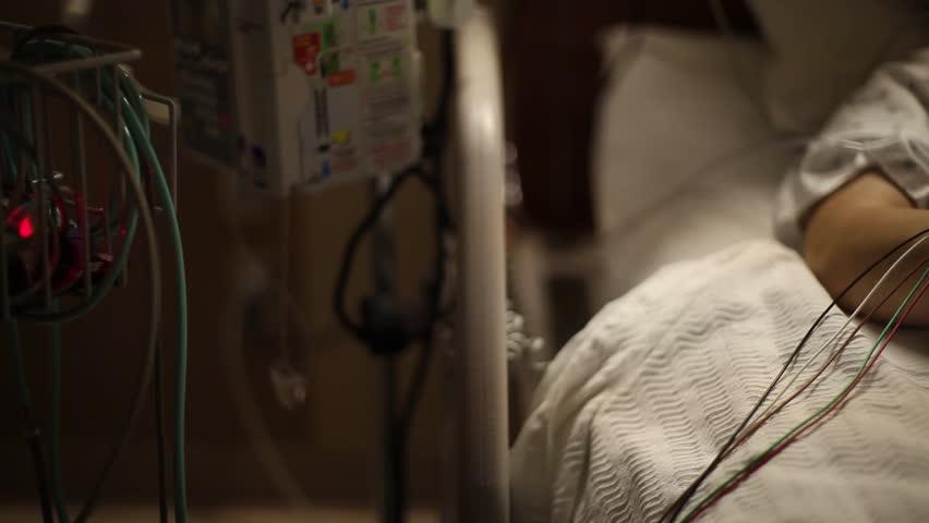 Medical bed wide dolly shot