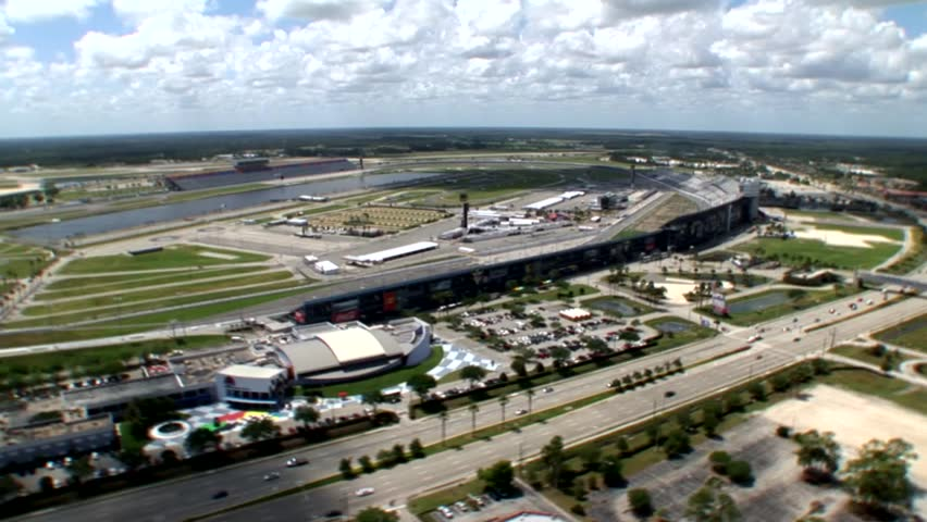 DAYTONA, FLORIDA - AUGUST 17: Aerial view of the famous Daytona Speedway on August 17, 2008, home of the yearly Daytona 500 NASCAR race