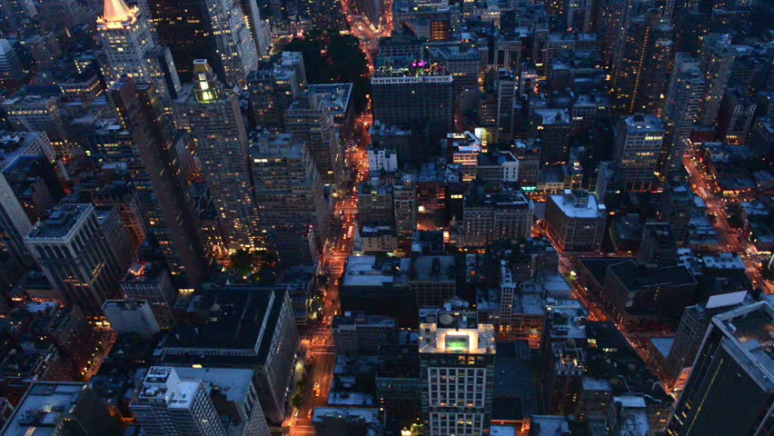 Night View Of New York Stock Footage Video 100 Royalty Free 4319789