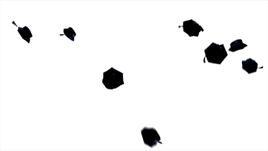 graduation - flying hats in the air, Full HD