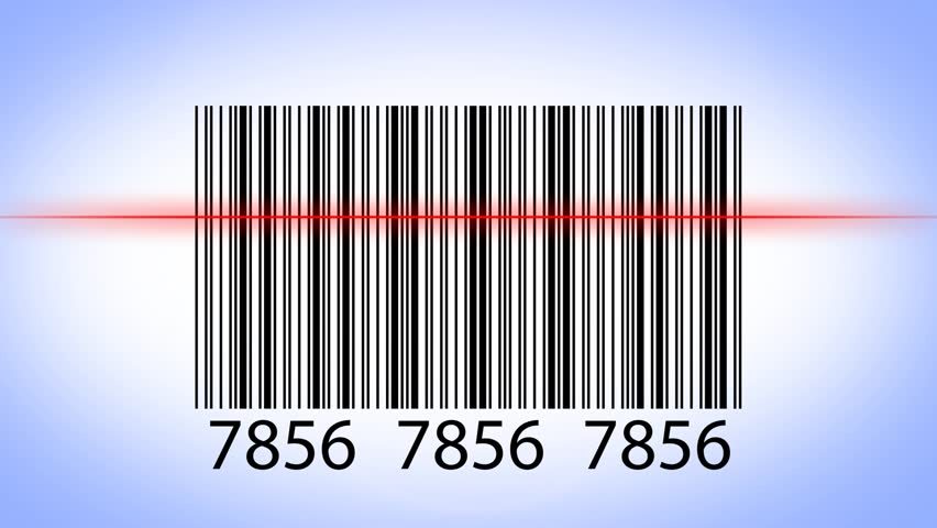 scanning barcode hd stock video clip