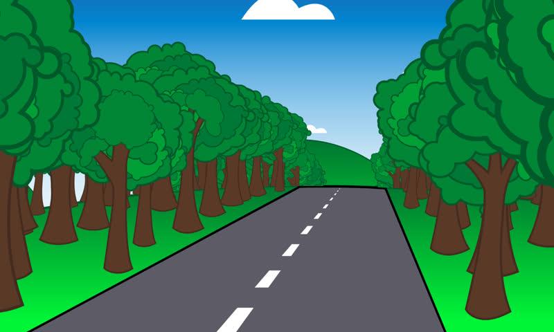 loopable cartoon road scene stock footage video 100 royalty free rh shutterstock com cartoon roadkill images cartoon roadkill