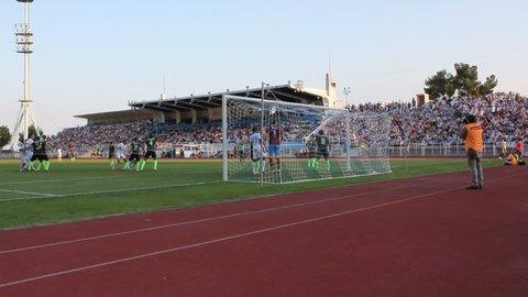 RIJEKA, CROATIA - JULY12: soccer match between HNK Rijeka and NK Istra 1961 (1. Croatian Football league) 2013 in Rijeka, Croatia.