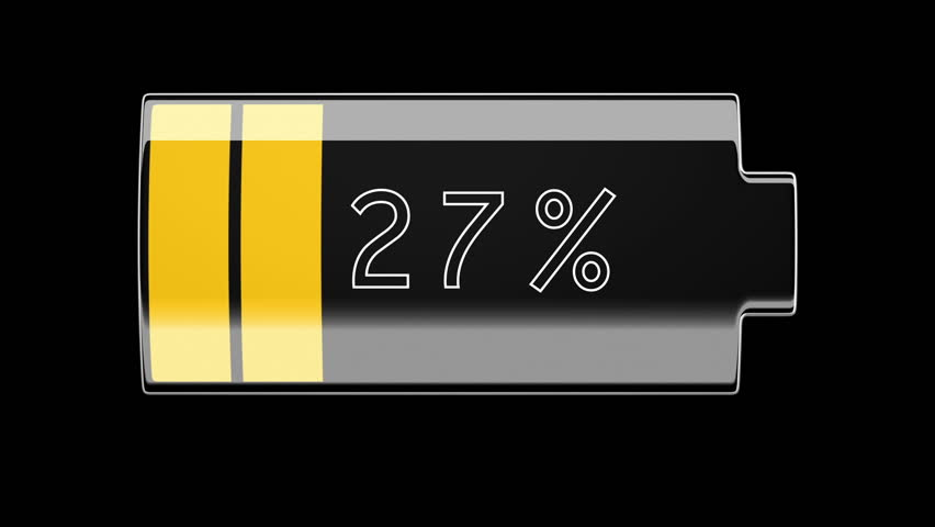 Battery Charging and Discharging with percentage. HD 1080. | Shutterstock HD Video #4364348
