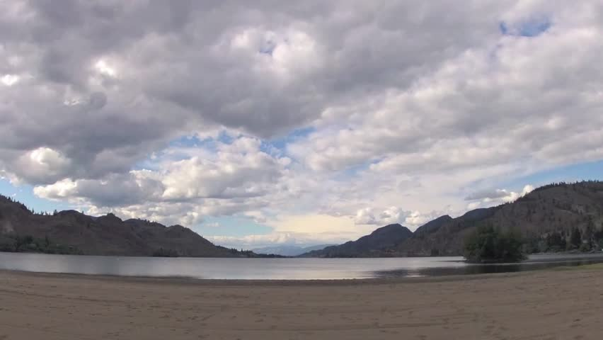Clouds over lake in 2 sec. time lapse.
