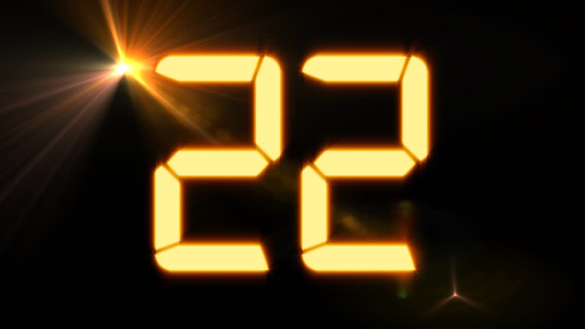 hologram timer coundown blue and red stock footage video