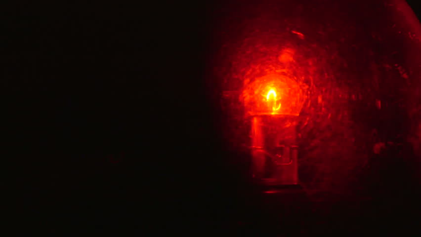 Dolly Rotating Red Emergency Flashing Light Stock Footage