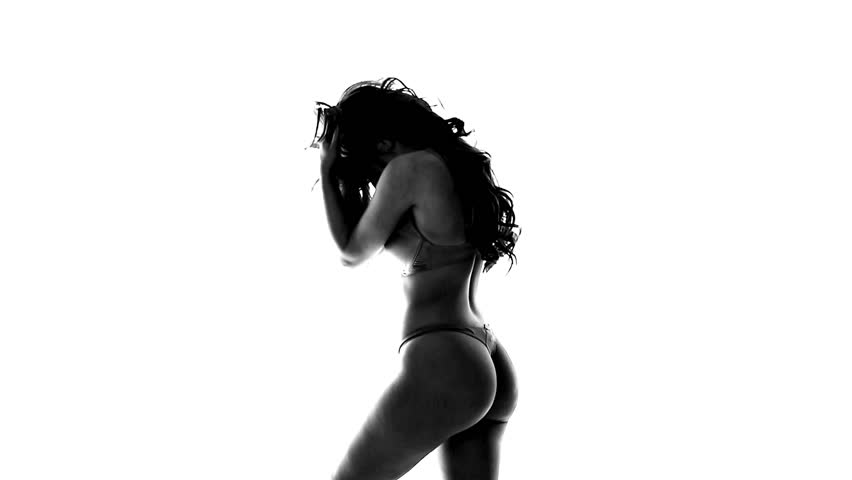 silhouette of sexy dancing woman in lingerie f0ce501cf