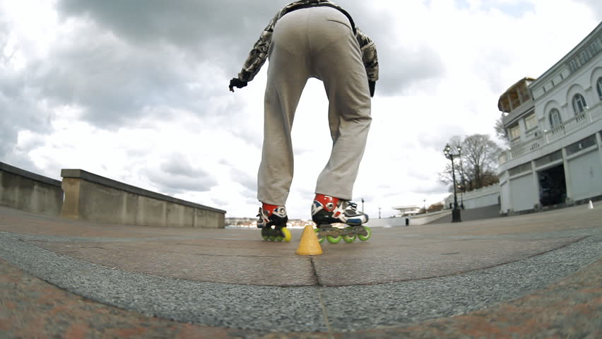 Rides roller skates | Shutterstock HD Video #4401209