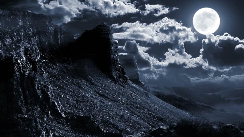 winter snow mountain moon - photo #41