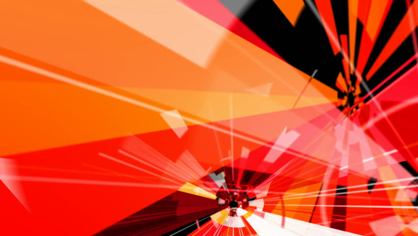 High Definition abstract CGI motion backgrounds ideal for editing, led backdrops or broadcasting featuring red, black and white geometric patterns
