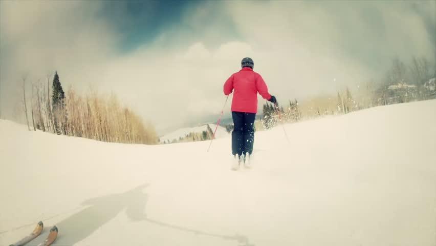 Skiing at Park City Utah a beautiful mountain resort