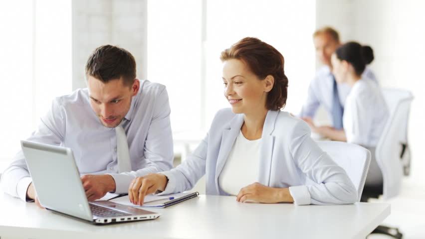 Business people in office making high five gesture | Shutterstock HD Video #4430999