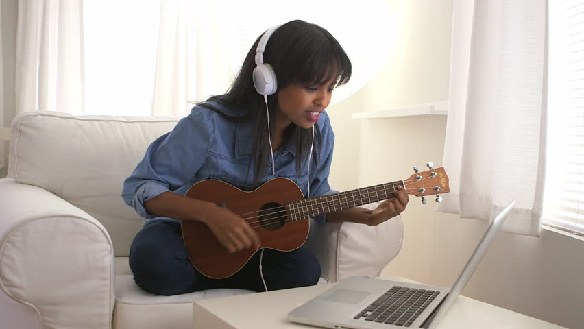 Teen Girl Playing Guitar Stock Footage Video 3358688 -3283