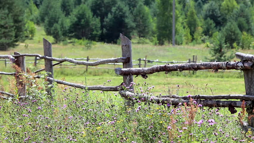 Fence, Barrier, Property Line Stock Footage Video 7856206 ...