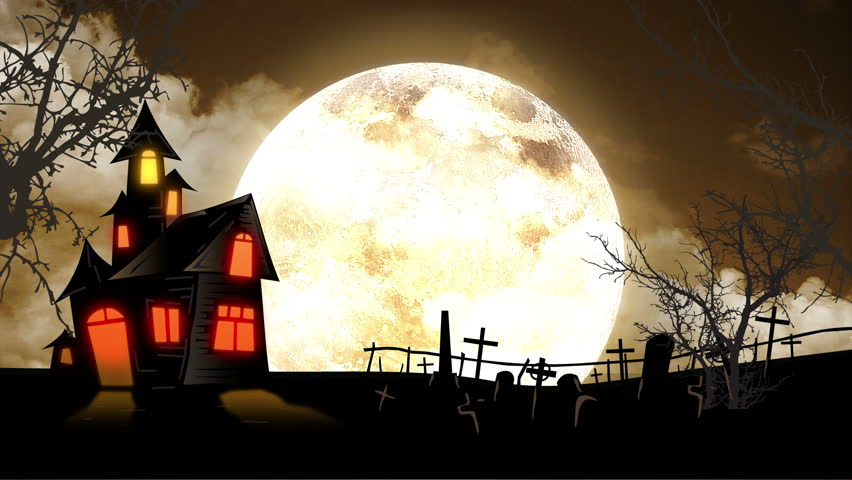 Halloween Spooky House.Spooky Halloween Haunted House Animation Stock Footage Video 100 Royalty Free 4457849 Shutterstock