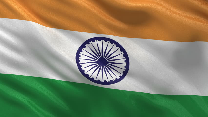 Indian Flag Flying Wallpaper: India Flag Stock Footage Video