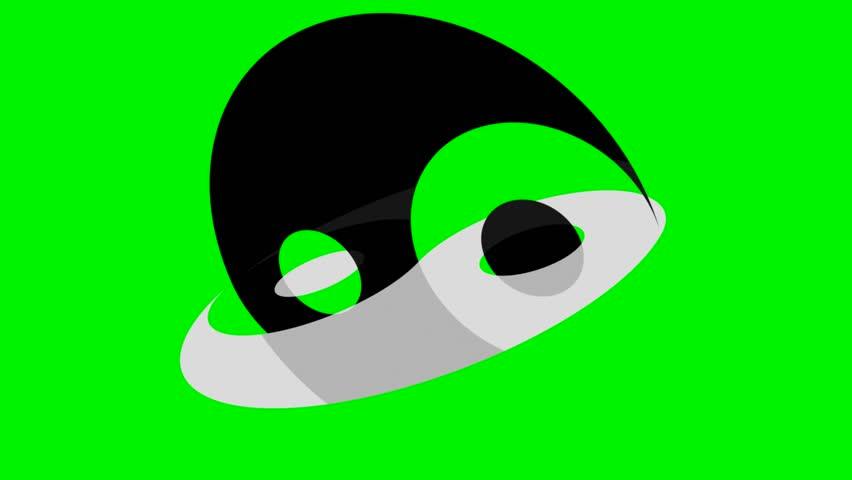 Rotating Yin Yang Symbol On Stock Footage Video 100 Royalty Free