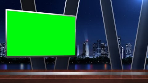 News studio;The background of the virtual studio;