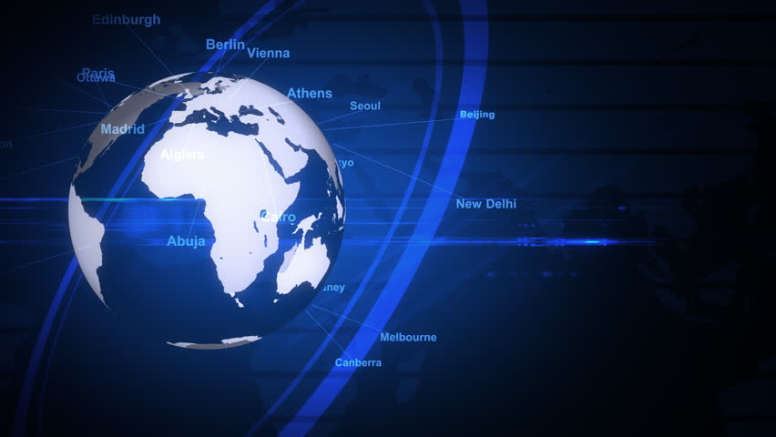 Blue background of the earth's rotation;The capital of the world's major  | Shutterstock HD Video #4506446