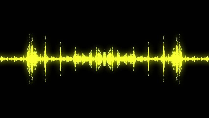Audio specturm yellow colour #4515929