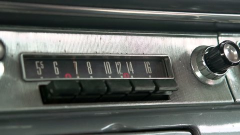 Choosing presets on classic car radio
